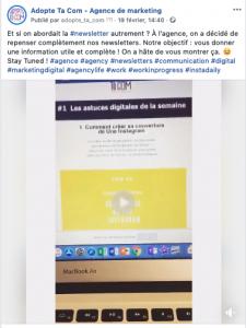 Hashtags sur Facebook Agence Marketing Grenoble
