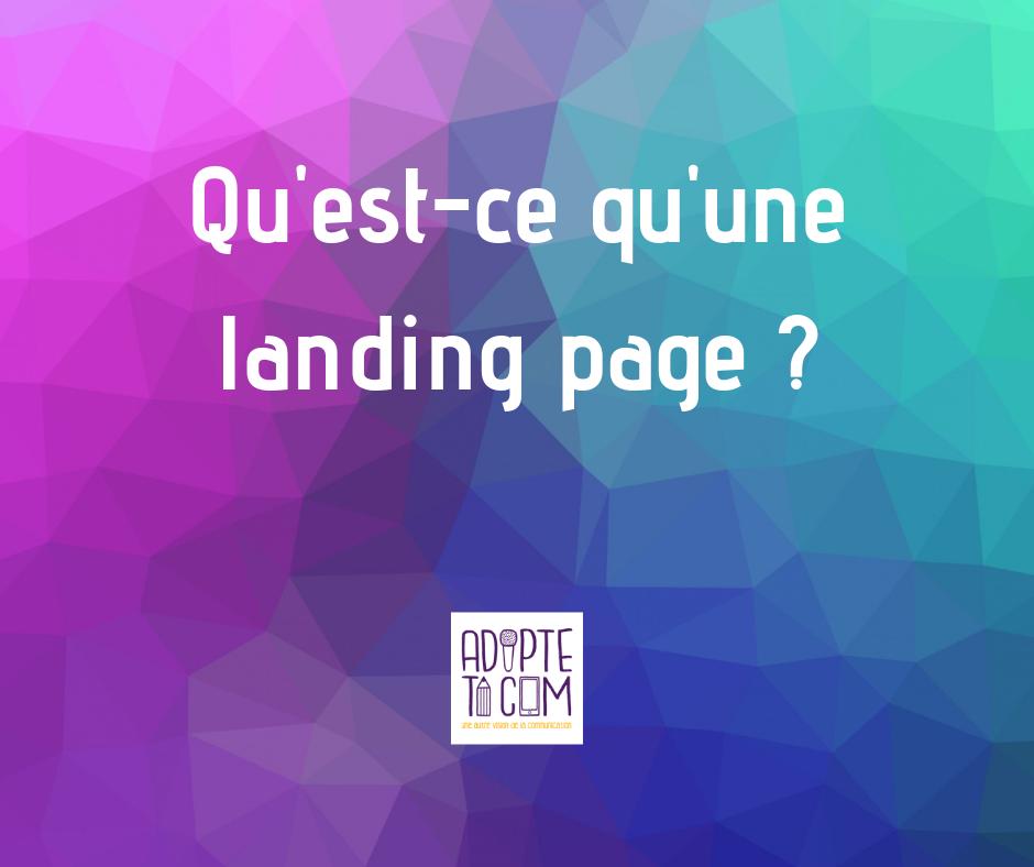 Landing page définition